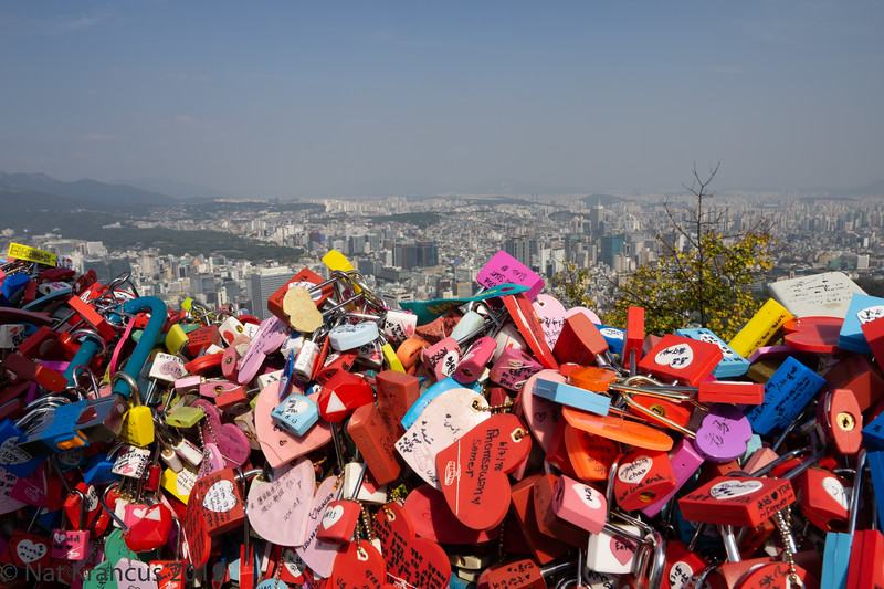 Love Locks at Namsan Park, Seoul, South Korea