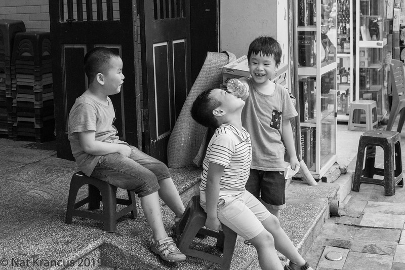 Kids Playing in Old Town Hanoi