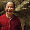 Black-tooth lady in Marble Mountain, Vietnam
