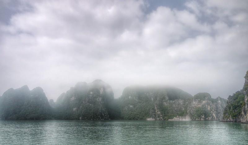 Clouds lifting, Halong Bay