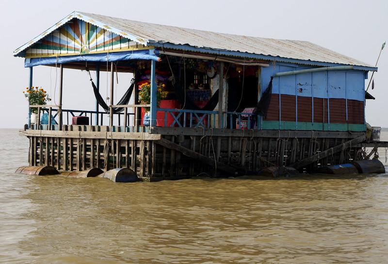 Floating village on Tonle Sap Lake, Mekong River