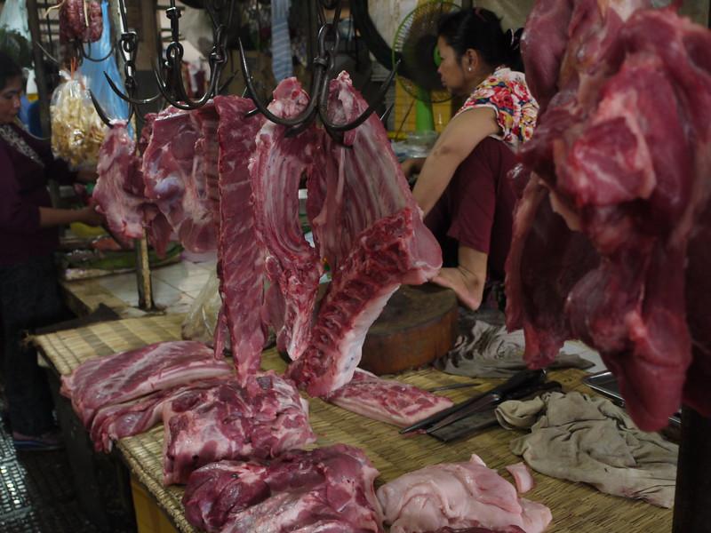 Meat market, Phnom Penh
