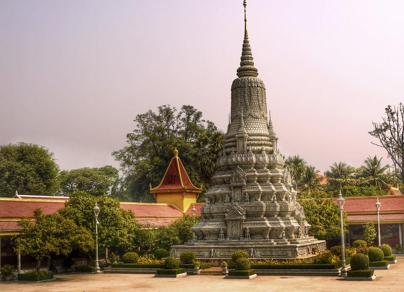 Maybe a burial stupa at the Cambodian Royal Palace, Phnom Penh.