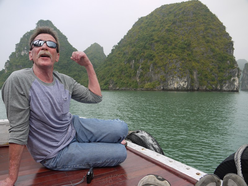 Rick at Halong Bay