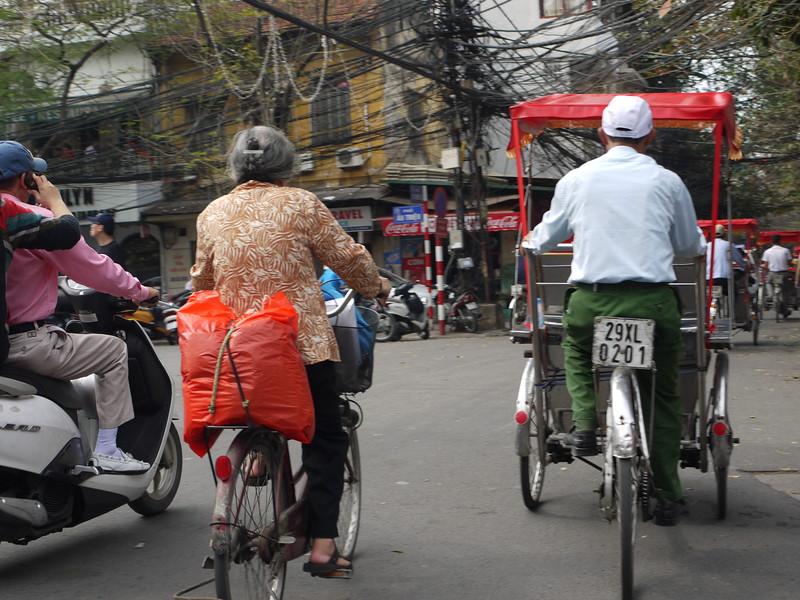 Three modes of transportation in Hanoi