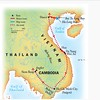 This approximates our route inside Vietnam and Cambodia -- in reverse.  We started in Phnom Penh and took a bus to Siem Reap.