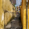 An alley in Hoi An, showing the mold that appears because the whole town floods periodically.