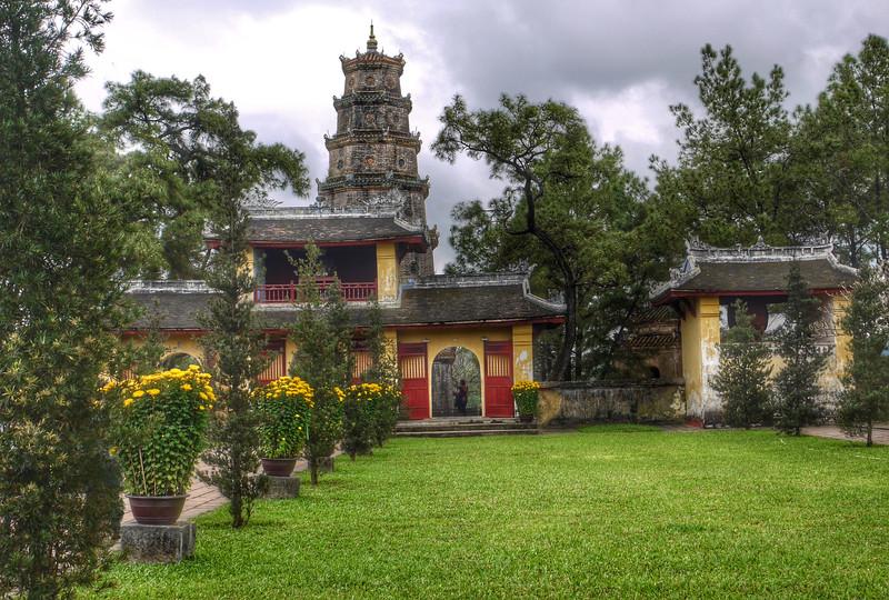 Historic pagoda in Huế, Vietnam
