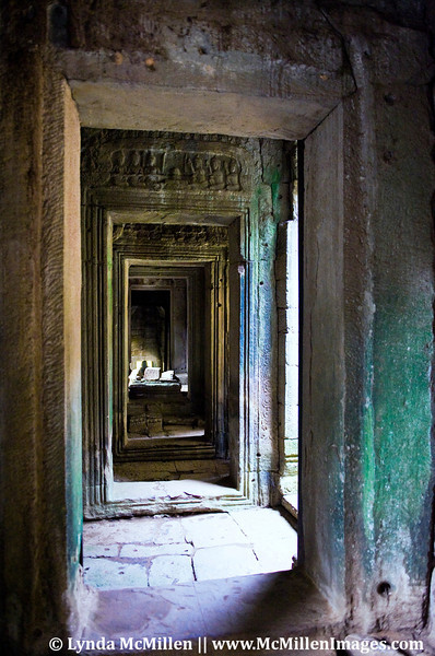 Bayon Temple interior passage.