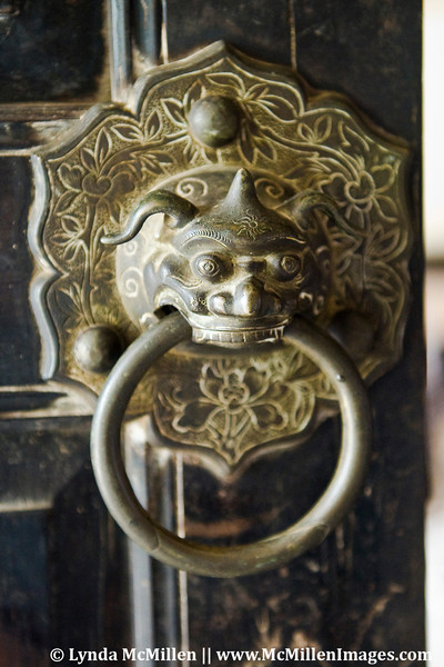 Door knocker at Marguerite Duras lover's house in Sa Dec Vietnam.