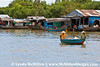 Kampong Chhnang floating village on the Tonle Sap River.