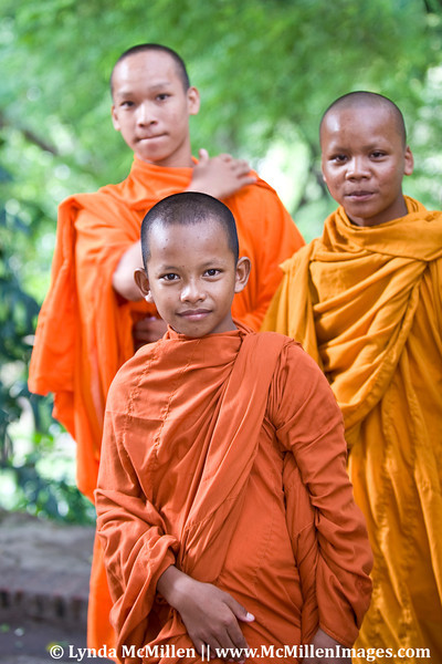 Young Cambodian monks.