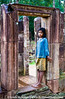 A Cambodian girl at Banteay Srei.