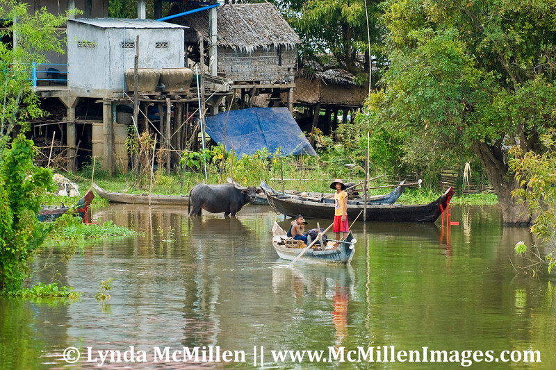 Stilt housing prevents the homes from being flooded during the rainy season.