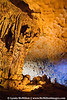 People in bottom, right of image give scale to the formations of Hang Sung Sot caves.