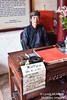 A calligrapher at the Temple of the Jade Mound, Lake Hoan Kiem, Hanoi, Vietnam.