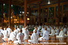 Buddhist nuns in prayer session.