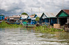 Kampong Chhnang Floating Village is the largest floating community in Cambodia.