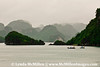 Ha Long Bay's iconic clusters of limestone islands.