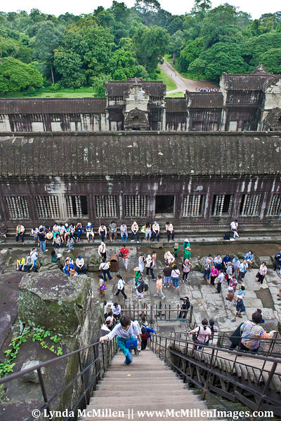 Looking out from the top of the Angkor Wat tower.
