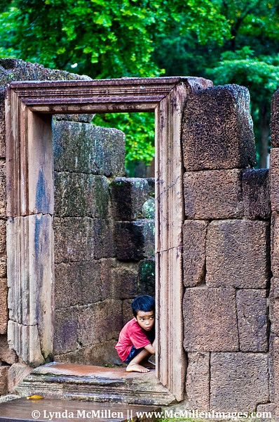 Hide & Seek at Banteay Srei, Cambodia.