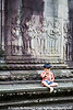 Bas-relief at Angkor Wat.