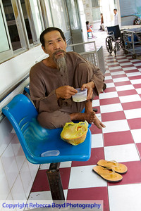 Family members camped out wherever they could find space in the Rach Gia hospital in southern Vietnam