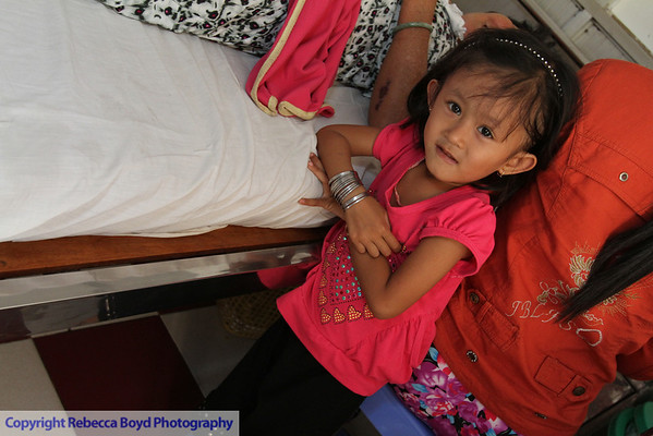 Children were extraordinarily patient living in the hospital in Rach Gia, southern Vietnam