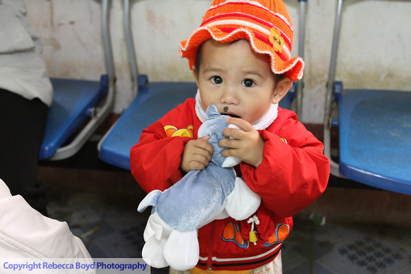 A child with a nevus on her face was approved for surgical repair during a medical mission to Vietnam