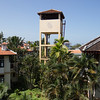 An interesting lookout tower in the centre of the property