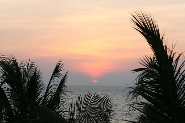 Sunset off Phu Quoc, a Vietnamese island near Cambodia
