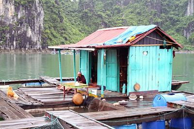 A lifestyle in Ha Long Bay, Vietnam