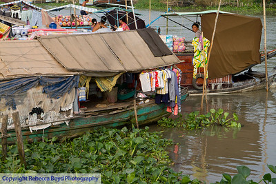 Common living conditions along the Mekong river, Vietnam.