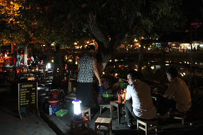 An outdoor cafe