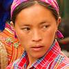 Beautiful Flower Hmong at Market