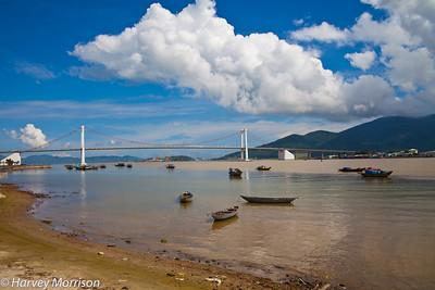 New Suspension Bridge over Han River, Danang Vietnam
