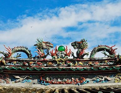 Dragon Flies and Dragons Detail of Hoi An Family Pagoda