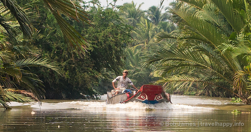 A river taxi on one of Ben Tre's many backwater canals.