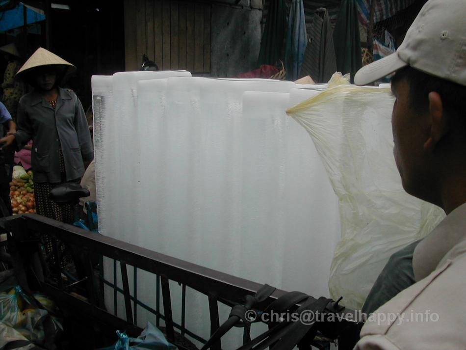 Huge Ice Blocks, Hoi An, Vietnam