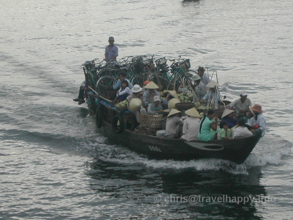Commuter Boat With Bikes, Hoi An, Vietnam