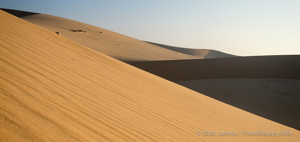 The white-sand dunes of Mui Ne, Vietnam.