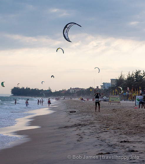 Mui Ne is Vietnam's kite-surfing capital thanks to its strong and steady winds.-surfing capital thanks to its strong and steady winds.
