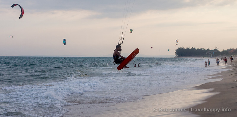 Mui Ne is Vietnam's kite-surfing capital thanks to its strong and steady winds.