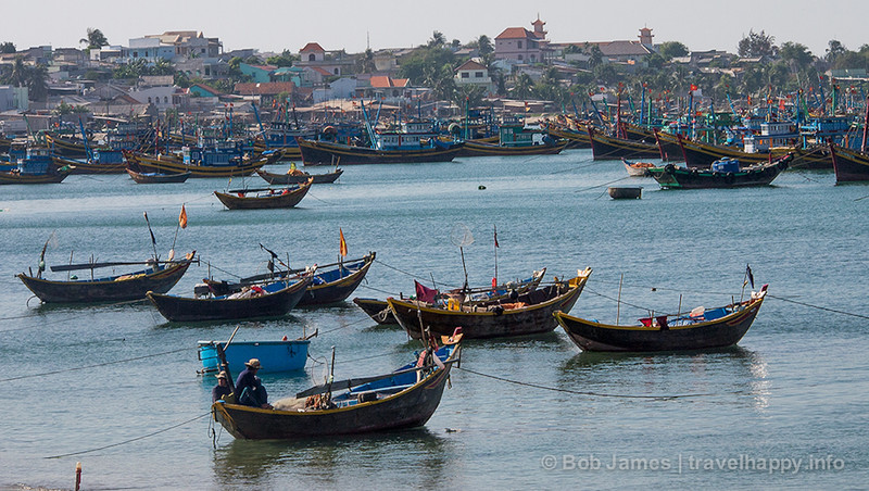 The fishing village at Mui Ne, Vietnam.