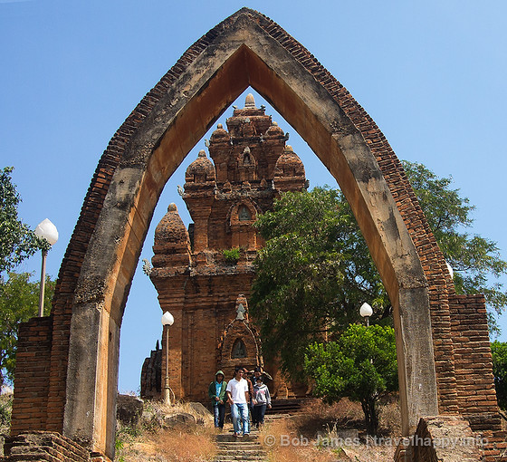 The stone archway and brick Po Klong Garai tower have stood for more than 800 years.