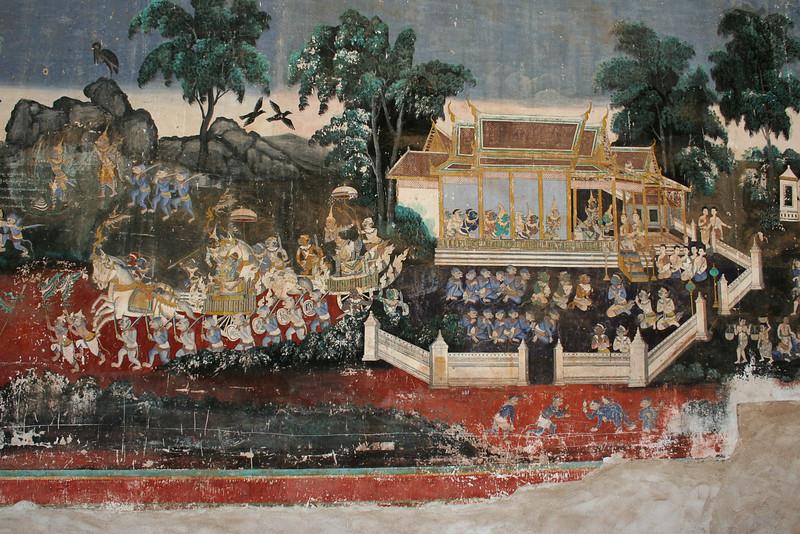 Ramayana fresco, Silver Pagoda, Phnom Penh