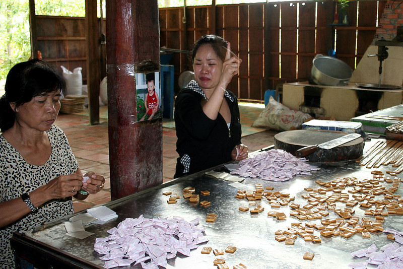 Making Coconut candy, Mekong Delta