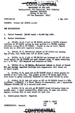 4-21 S-2 Reports-May 1970