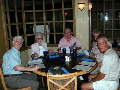Dinner with Ann Herd at the 2005 Gold Star Mothers Convention in Dallas - #2. From left to right: Charles Alexander, Ann, Carl and Joyce, David Black