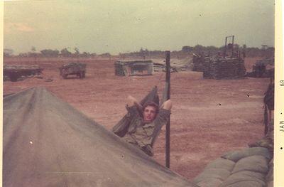 Robert Rowe at Fort Pawnee in hammock